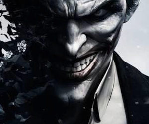 joker, batman, and smile image