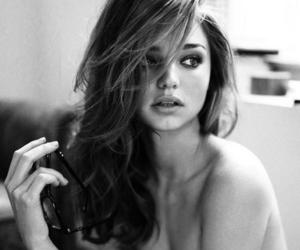 miranda kerr, model, and black and white image