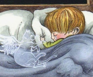 angel, still with you, and cat image