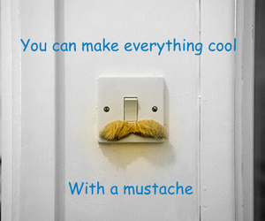 cool, light, and mustache image
