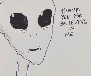alien, grunge, and believe image