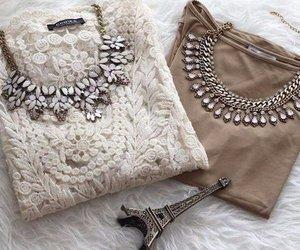 fashion, necklace, and paris image