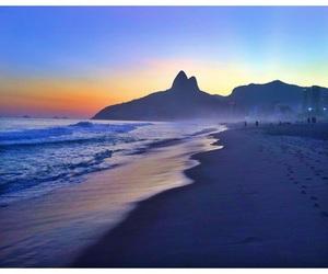 beach, brazil, and sunset image