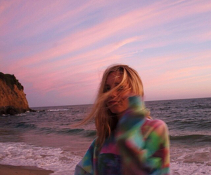 girl, beach, and tumblr image