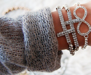 fashion, bracelet, and cross image