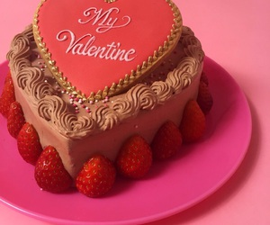 strawberry, red, and valentine image