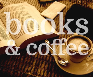books, lifestyle, and coffee image