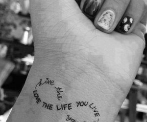 tattoo, love, and life image