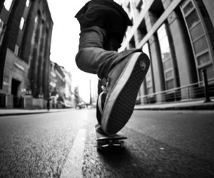 skate, boy, and black and white image