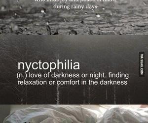 rain, bed, and dark image