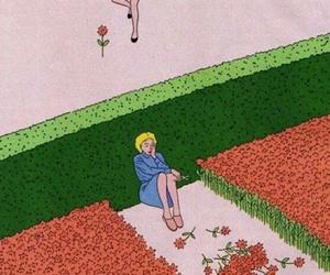 art, vintage, and flowers image