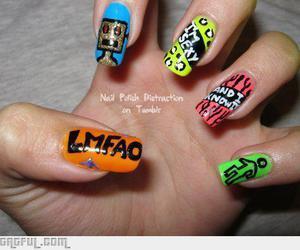 nails, lmfao, and nail art image