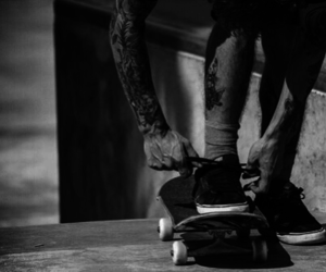 boy, skate, and shoes image