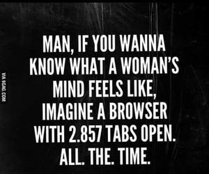 funny, woman, and mind image