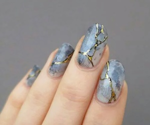 blue, nails, and vintage image