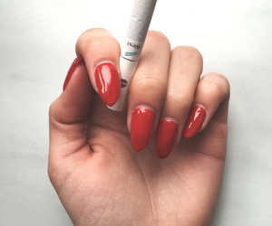 cigarette, stiletto, and naildesign image
