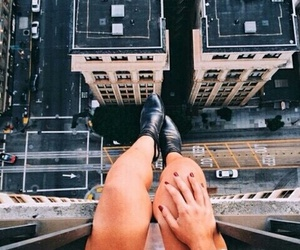 city, legs, and building image