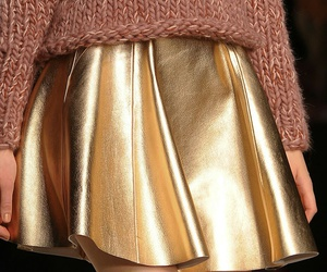 fashion, gold, and sweater image