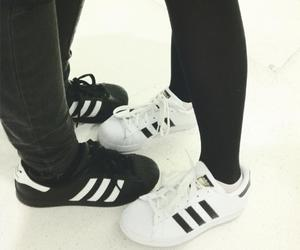adidas, aesthetics, and b & w image