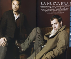 bromance, jude law, and robert downey jr image