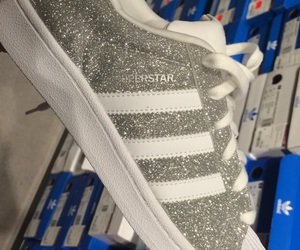 adidas, silver, and sparkle image