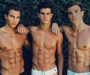 abs, guys, and fitness image