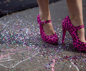 pattern, pink, and shoes image
