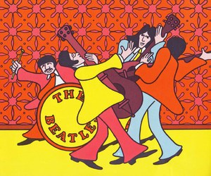 beatles, illustration, and music image