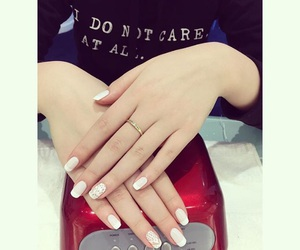 art, nails, and white image