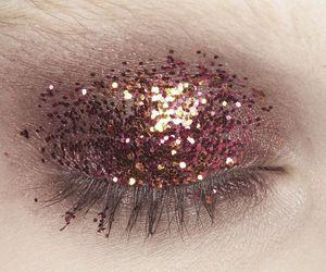 glitter, makeup, and eye image