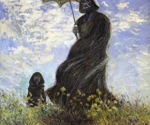art, darth vader, and monet image