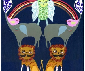 lions, prints, and rainbows image