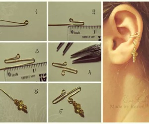 diy, manualidades, and aretes image