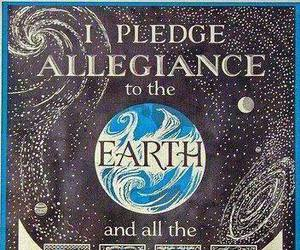 earth, planet, and pledge image