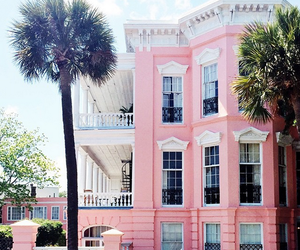 pink, house, and summer image