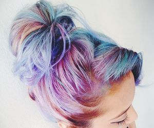 hair, hairstyle, and color image
