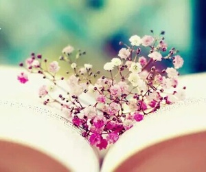 book, fleur, and flower image