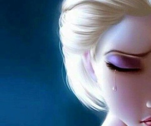 frozen, sad, and disney image