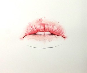 lips, pink, and art image