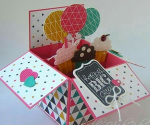 cube, gift, and pretty image