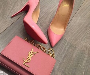 bag, pink, and chic image