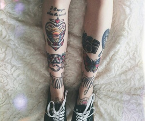 tattoo, vans, and legs image