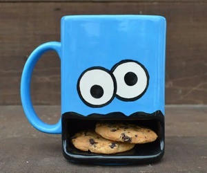 Cookies, cup, and blue image