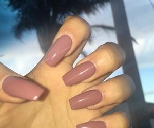 beauty, nails, and coffin shape image