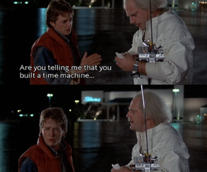 Back to the Future, McFly, and delorean image