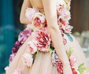 flowers, dress, and style image