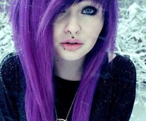 purple hair, scene, and alt girl image