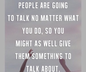 quote, people, and talk image