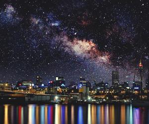 city, lights, and stars image