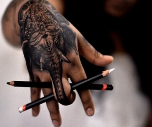 tattoo, elephant, and art image